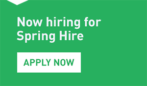Now Hiring 50,000 candidates for Spring Hire. Apply