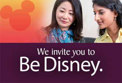 We invite you to Be Disney.