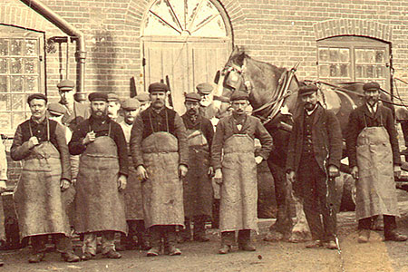 Greene King draymen of the late 1800's