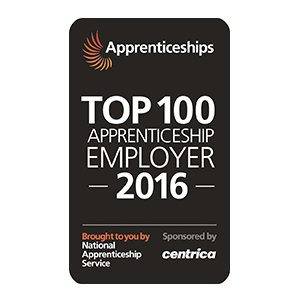 Top Apprenticeship Employer 2016