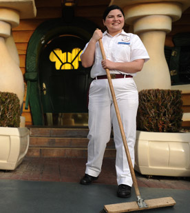 Disney maintenace woman