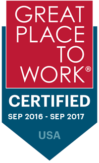 2016-2017 Great Place to Work Certified