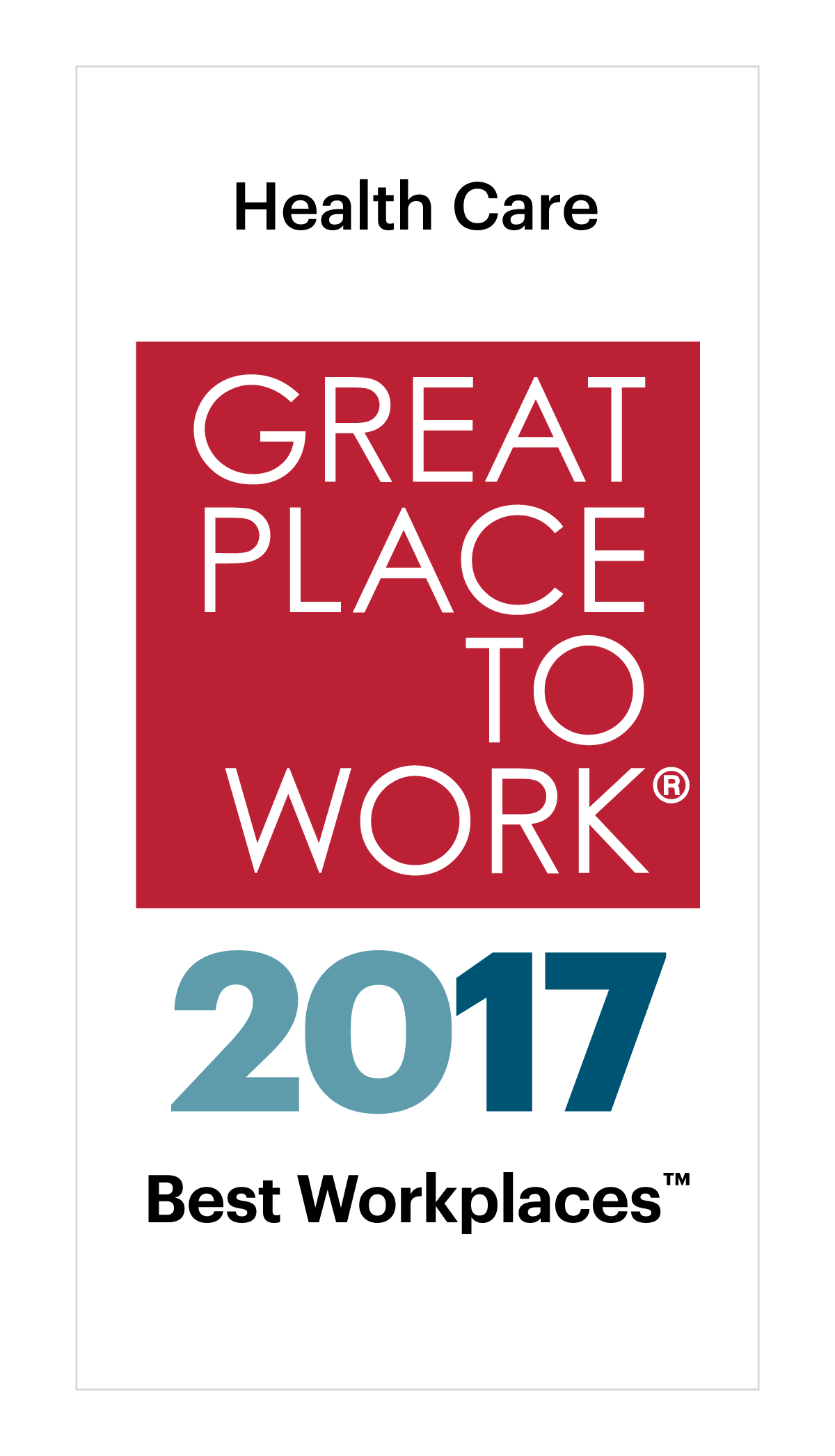 Great Place to Work Health Care 2017
