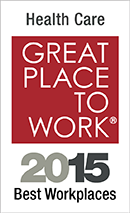 Award: Health Care Great Place to Work - 2015 Best Workplaces