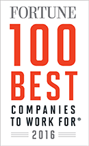 Award: Fortune 100 Best Companies to Work For - 2016