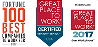 Awards: Fortune 100 Best Companies to Work For - 2016 and multiple 2015  Best Workplaces
