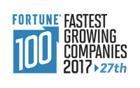 Fortune 100 Fastest growing companies 2017 > 27th