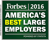 Forbes 2016 - America's Best Large Employers. Powered by Statista.