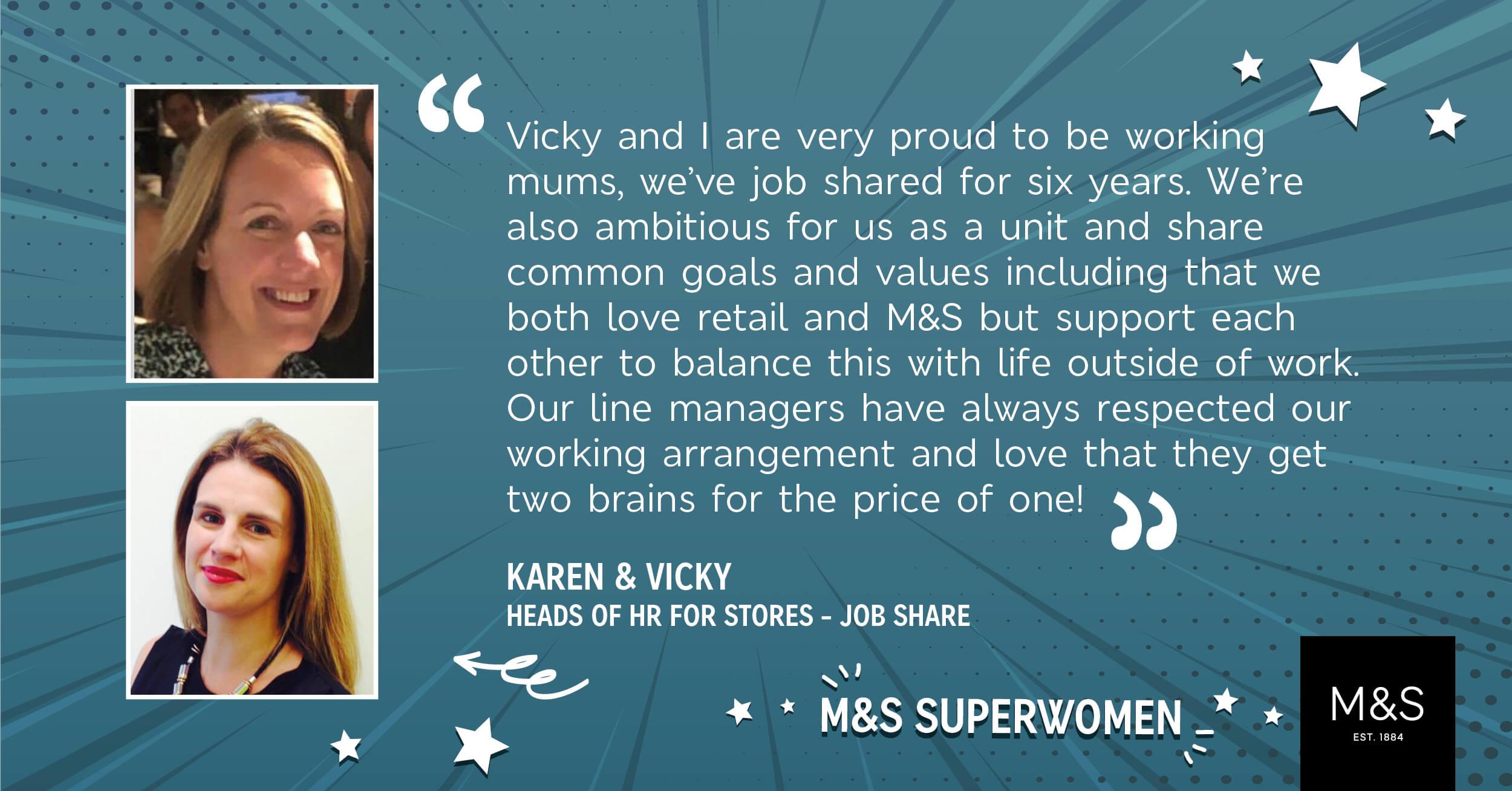 Karen and Vicky Job share HR