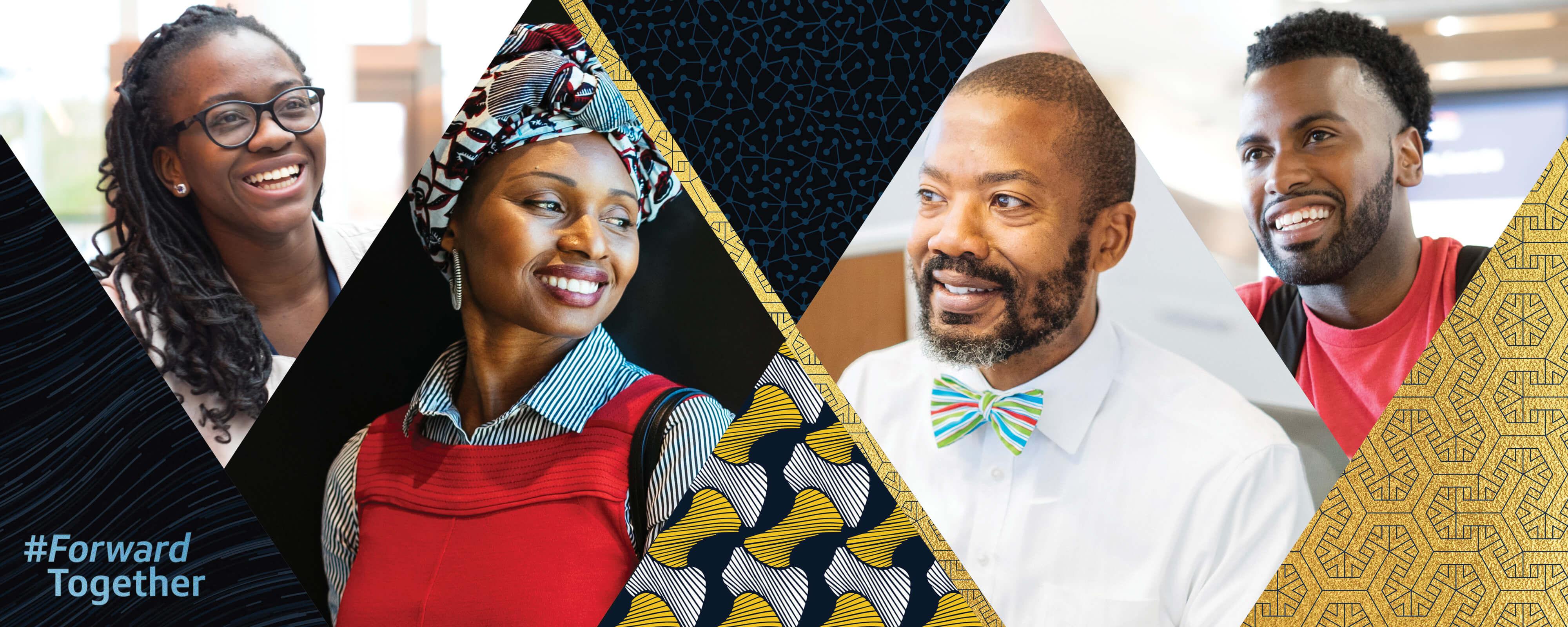 Capital One associates smiling celebrating Black History Month