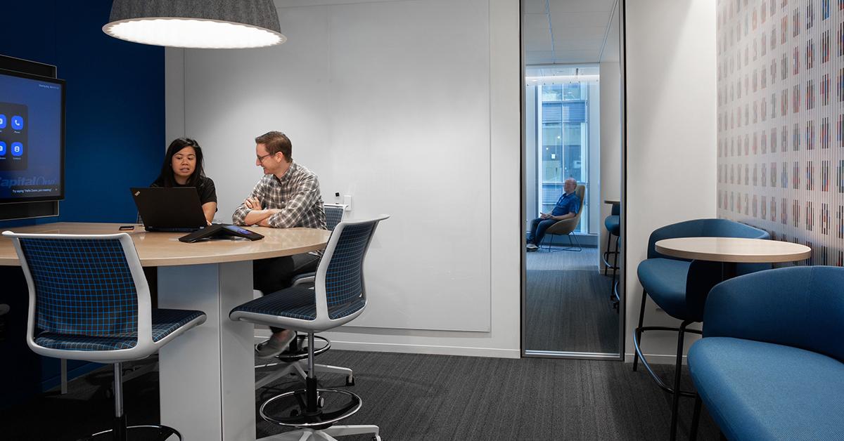 A meeting room inside Capital One