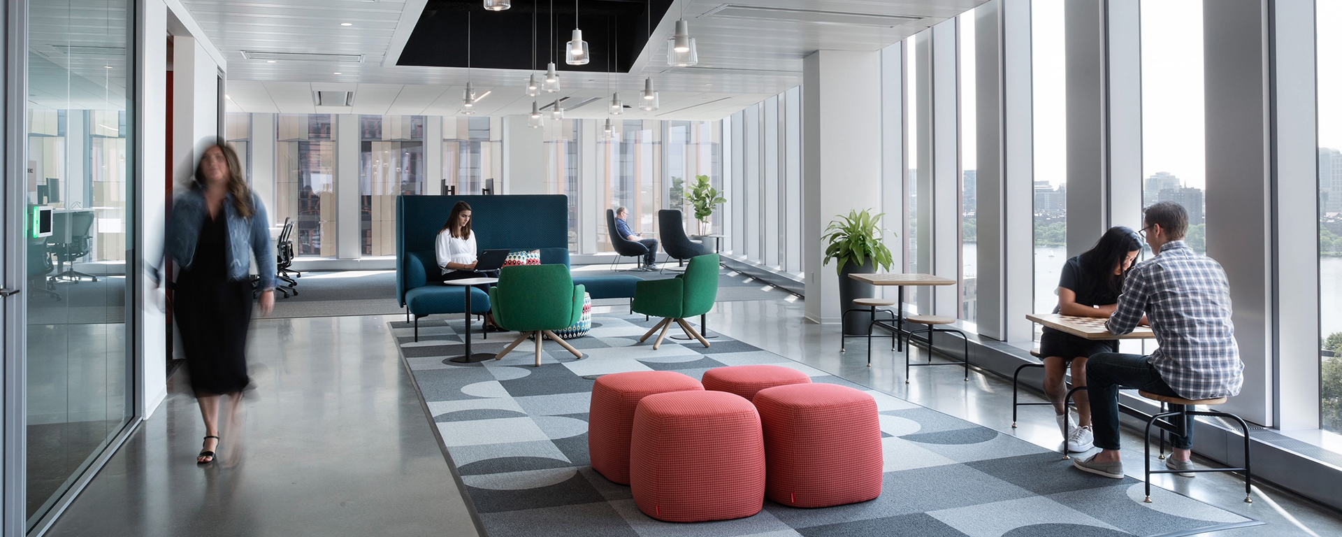The inside of Capital One's new Boston office location