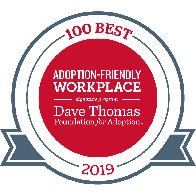 100 best adoption-friendly workplace award logo
