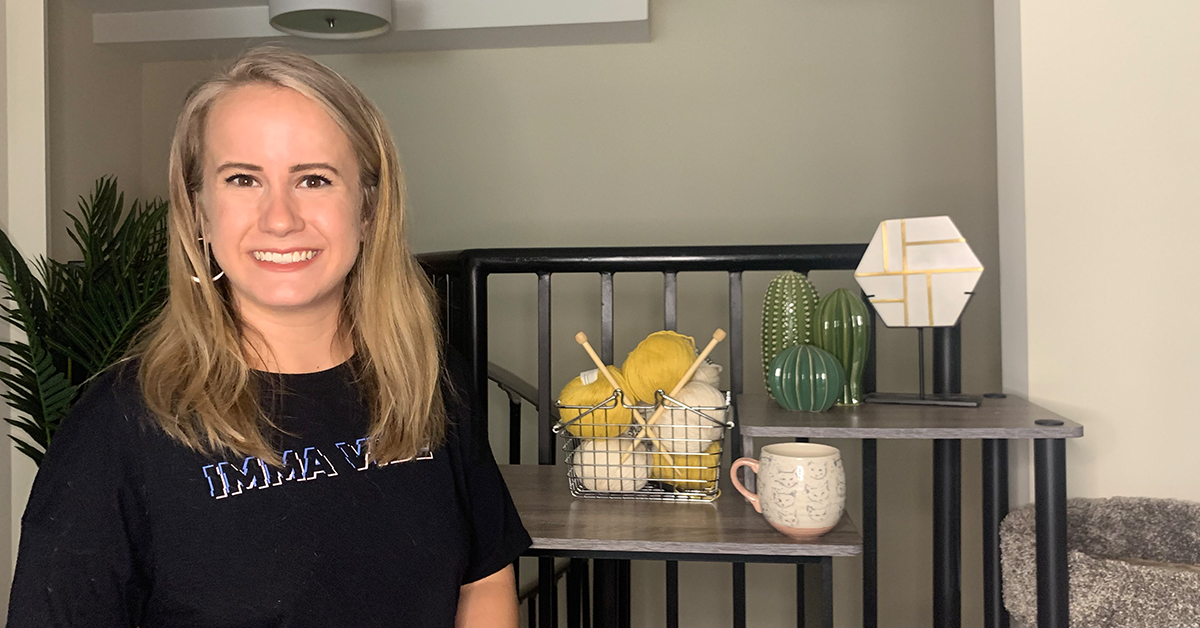 Ari, Capital One product manager, stands in her home and talks about how to be successful in product management