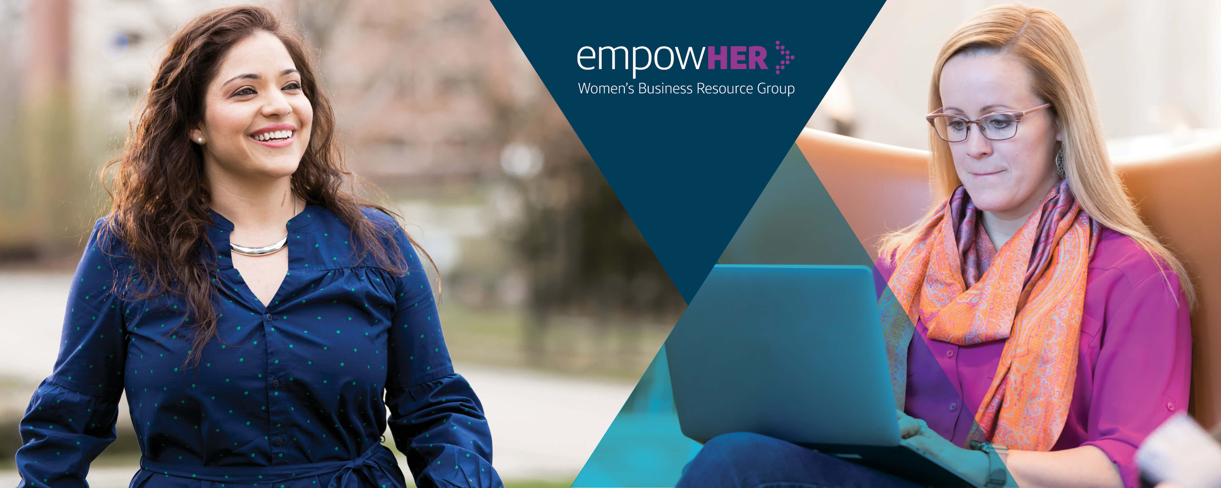 Capital One associates supporting EmpowerHER, the women's business resource group at Capital One