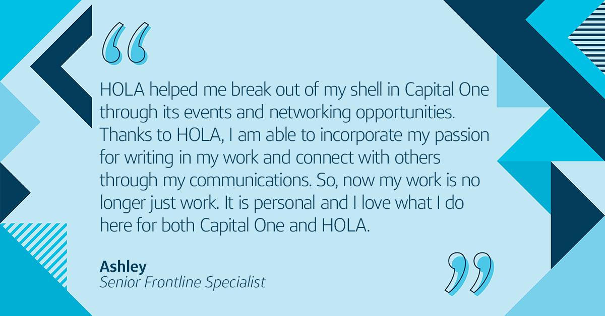 Hispanic/ Latinx Business Resource Group, HOLA helps Latina associates grow and develop at work