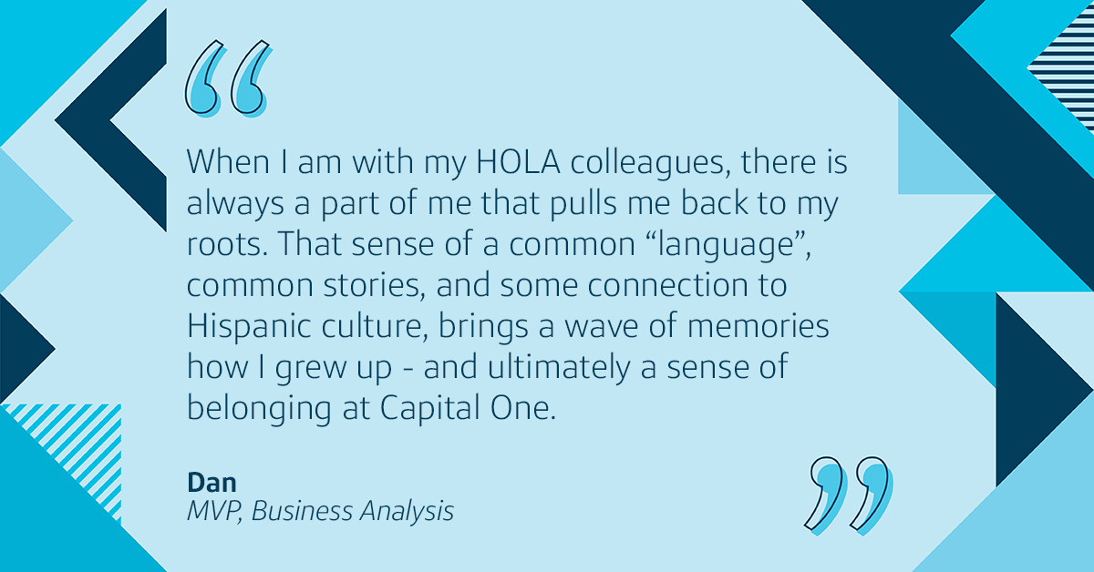 Capital One Hispanic/ Latinx Business Resource Group HOLA helps Latina associates network and grow at work