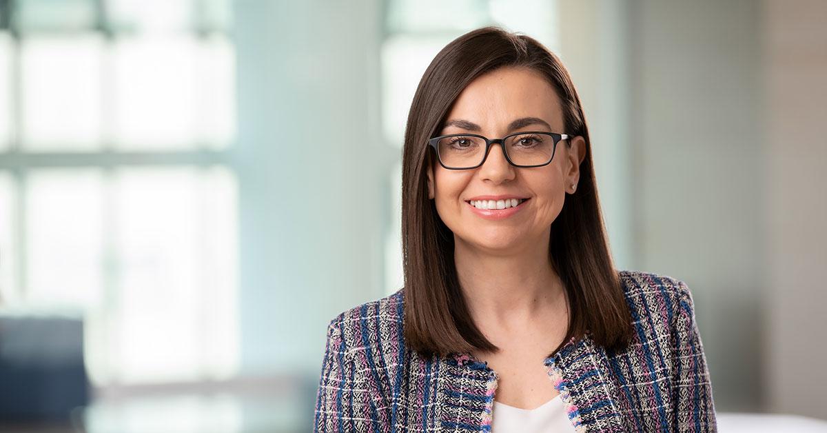 woman in leadership smiling