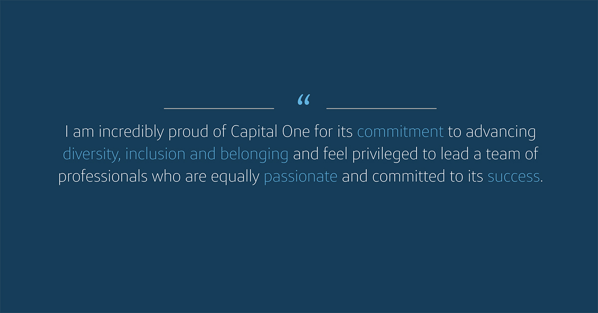 Capital One leadership Rolddy Leyva talks about culture of belonging and diversity and inclusion for LGBTQ at Capital One