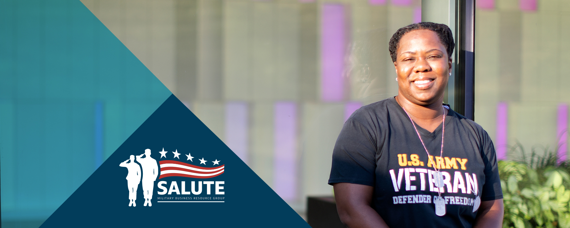 Capital One associate enjoys the weather outside and talks about her experience being supported as a veteran at Capital One