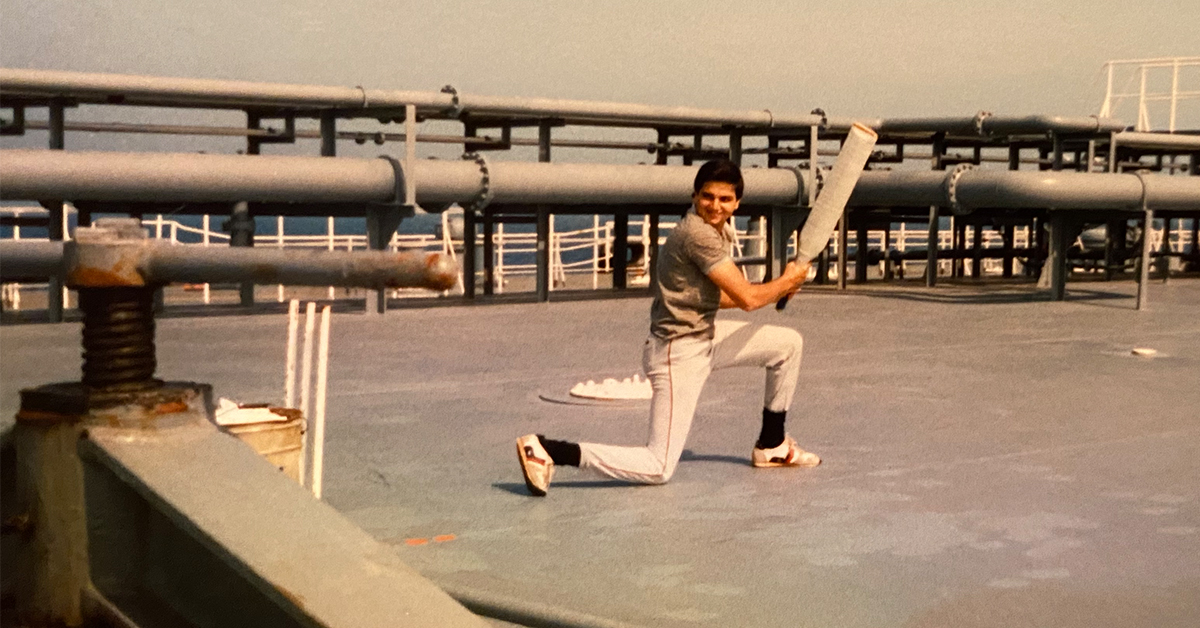 Sanjiv, Capital One Financial Services president, plays cricket in his early career