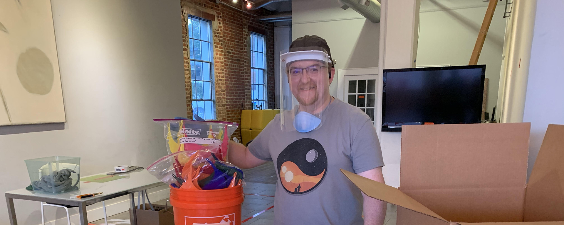 Capital One lead software engineer is creating reusable personal protective equipment PPE using 3D printing for COVID-19