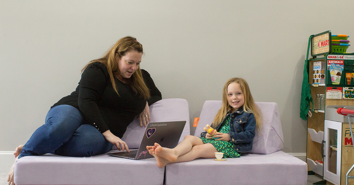 Capital One associate Amanda gives tips on working from home with kids