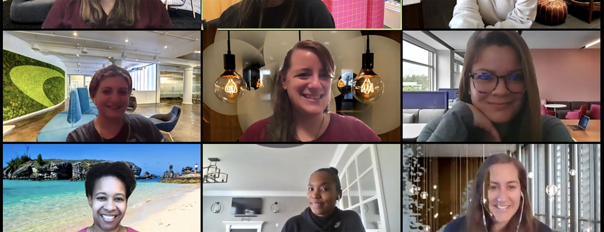 Capital One provides Zoom backgrounds for virtual interviews and meetings