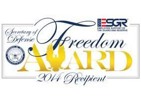 Secretary of Defense Employer Support Freedom Award 2016