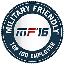 Military Friendly Top 100 Employer 2016