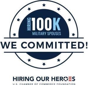 Hiring 100K Military Spouses. We Committed! Hiring our heroes, U.S. Chamber of commerce foundation