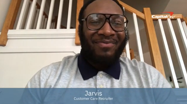 Video: Jarvis's tips to virtual interviewing at Capital One.