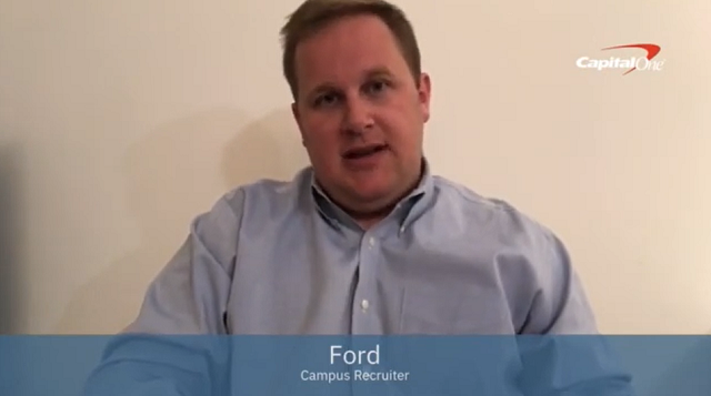Video: Capital One recruiter Ford shares his advice for acing your Case Interview.