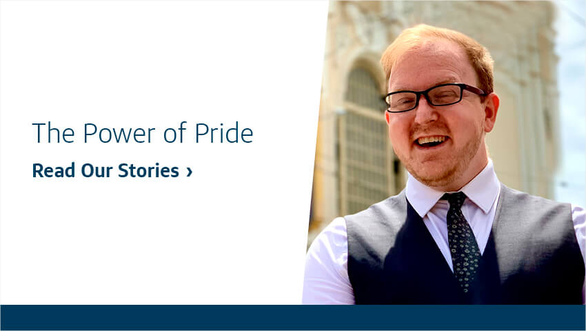 The Power of Pride. Read Our Stories.