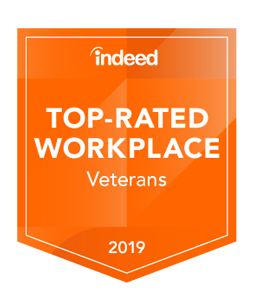 Indeed Top-rated Workplace for Veterans 2019
