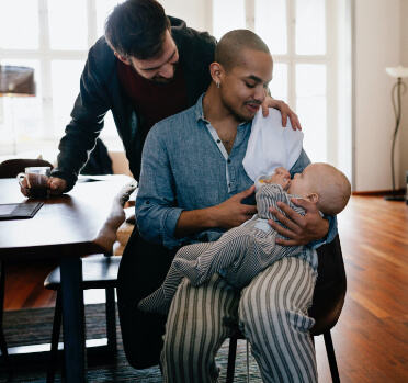Family with a baby