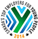 Canada's Top Employers for Young People 2014 Logo