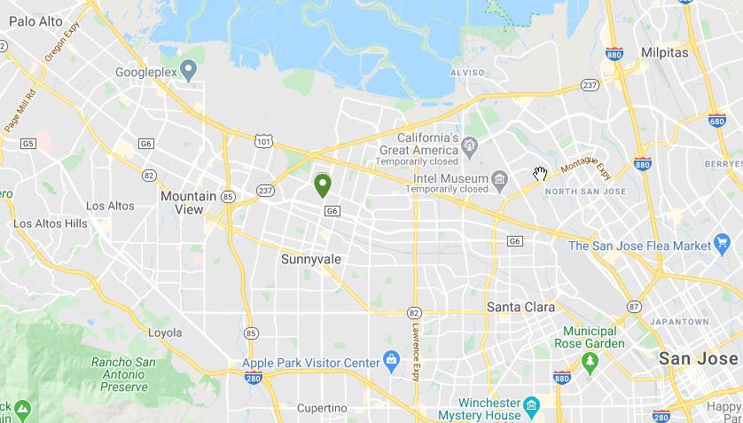 Sunnyvale Map