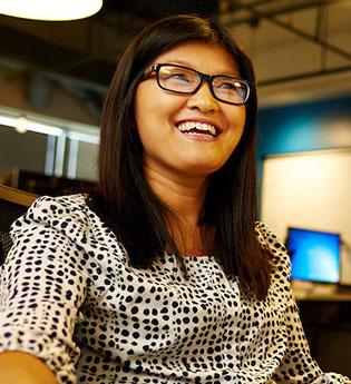 employee smiling