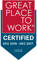 Great place to work certified Dec 2016 - Dec 2017 USA