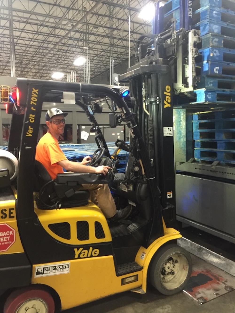 employee spotlight tim forklift operator