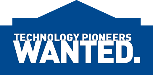 Technology Pioneers Wanted.
