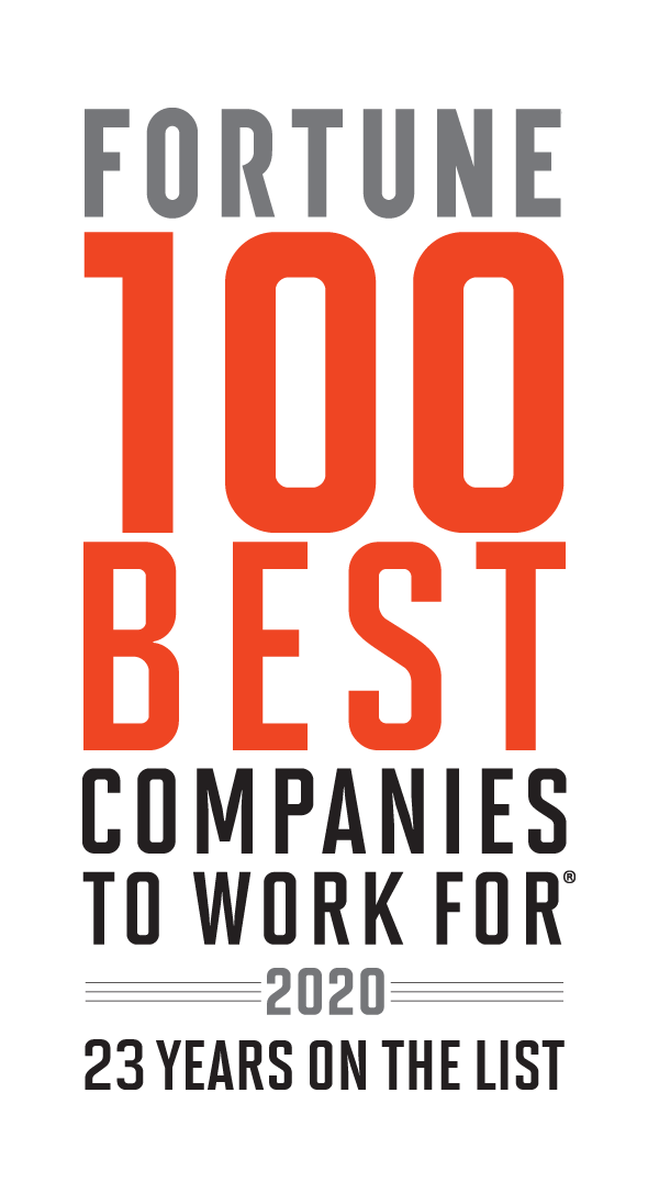 Fortune 100 Best Companies to Work For 2020. 22 years on the list.