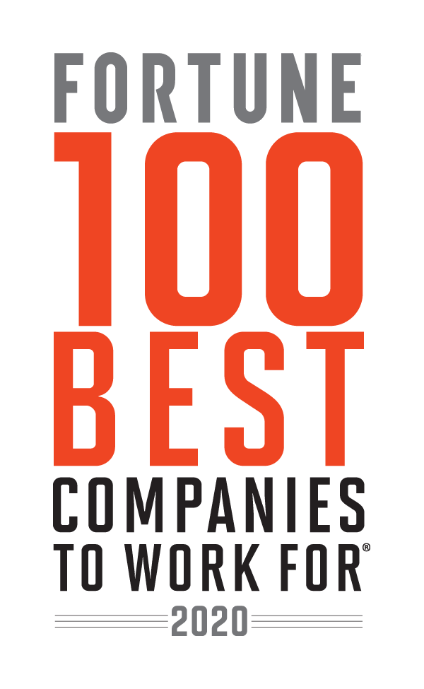 Fortune 100 Best Companies to Work For 2019 - 22 Years on the List.