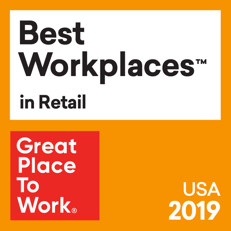 Great Places to Work - Best Workplaces in Retail 2019