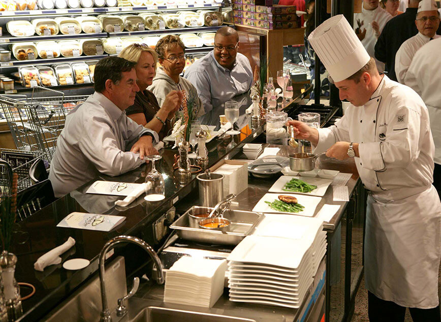 Chef with Customers