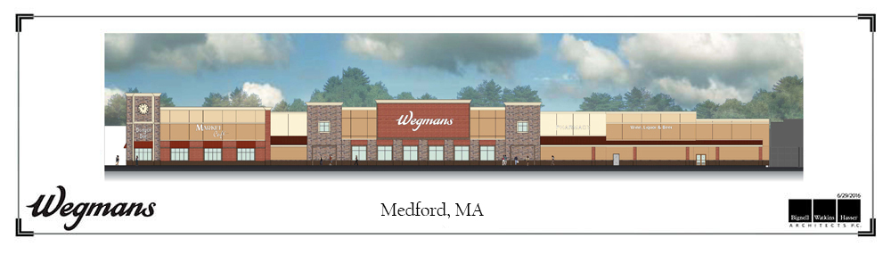 montvale store architectural drawing - Wegmans Asset Protection