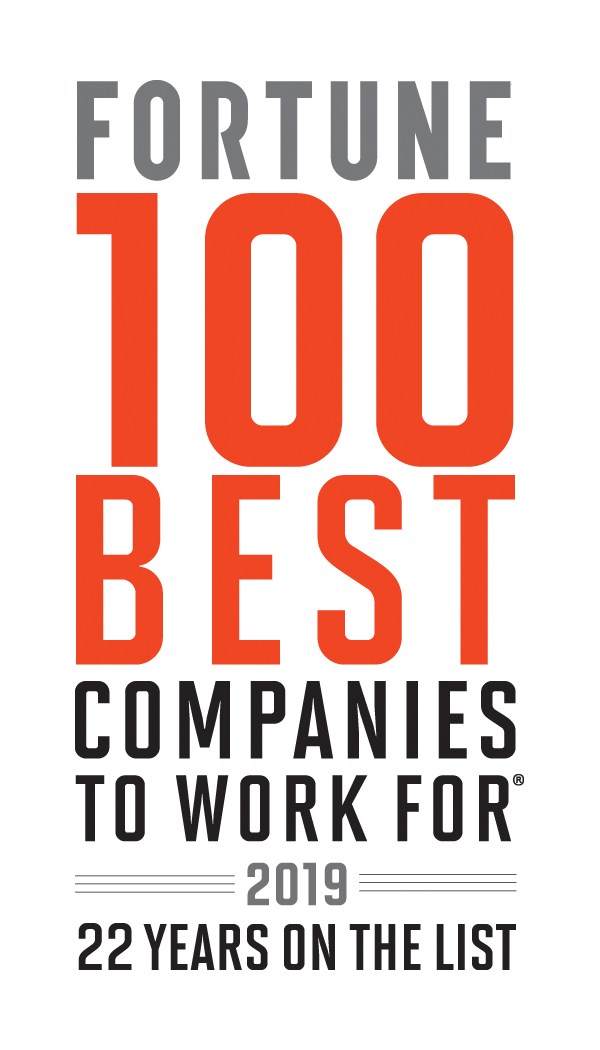 Fortune 100 best companies to work for 2017. 20 years on the list.