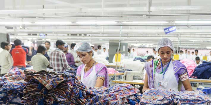 People working in Primark factory