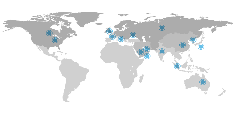 Map of Boeing Locations